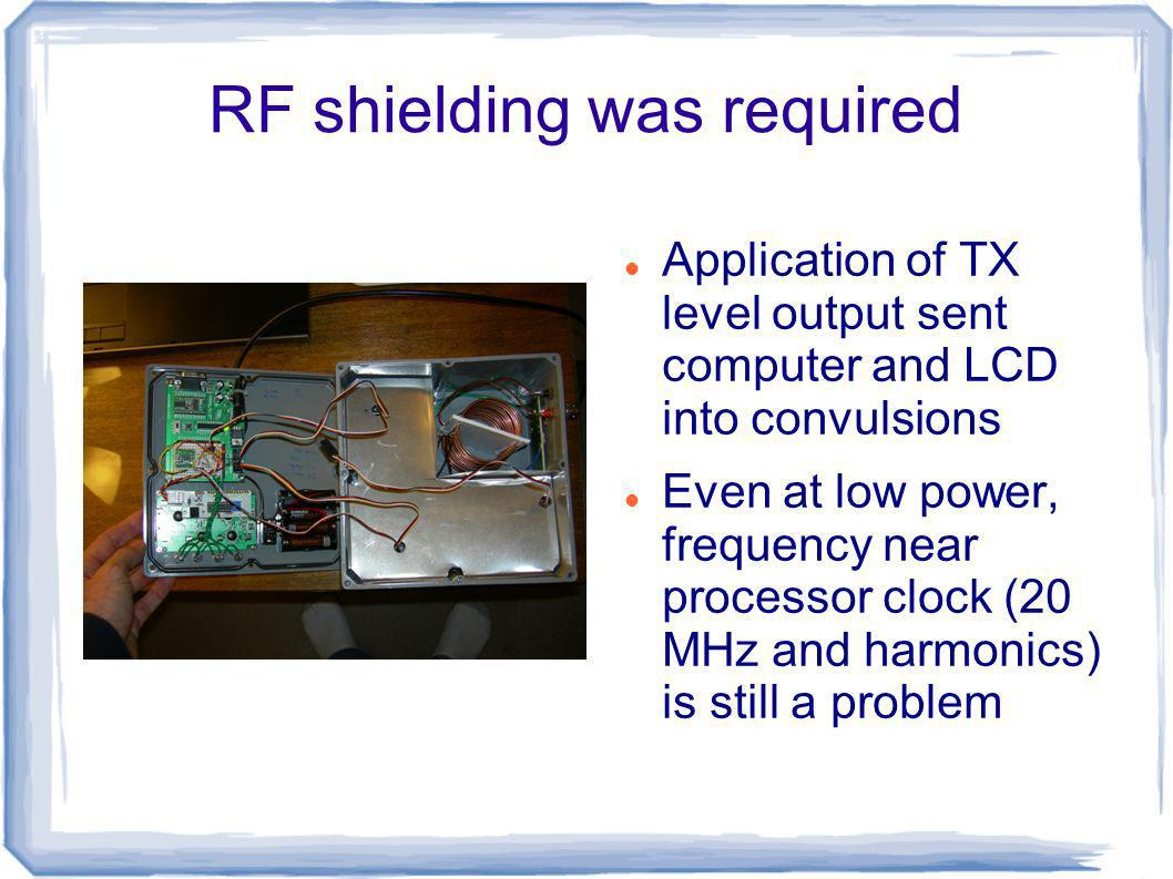 RF shielding was required
