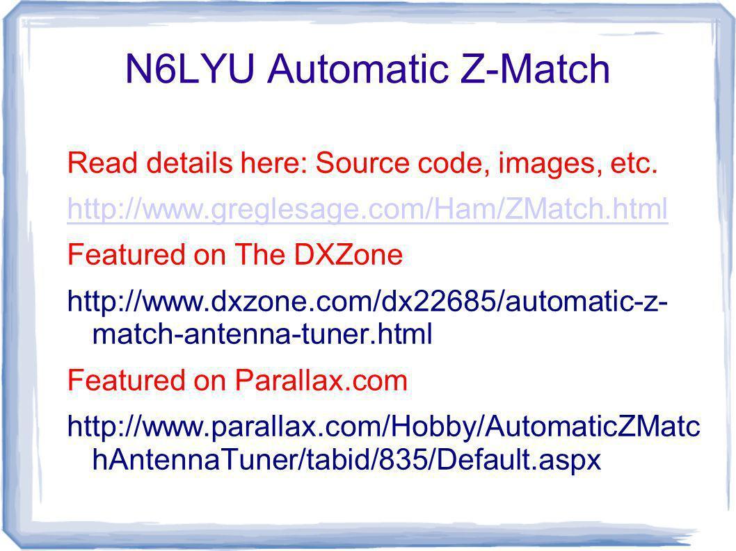 N6LYU Automatic Z-Match