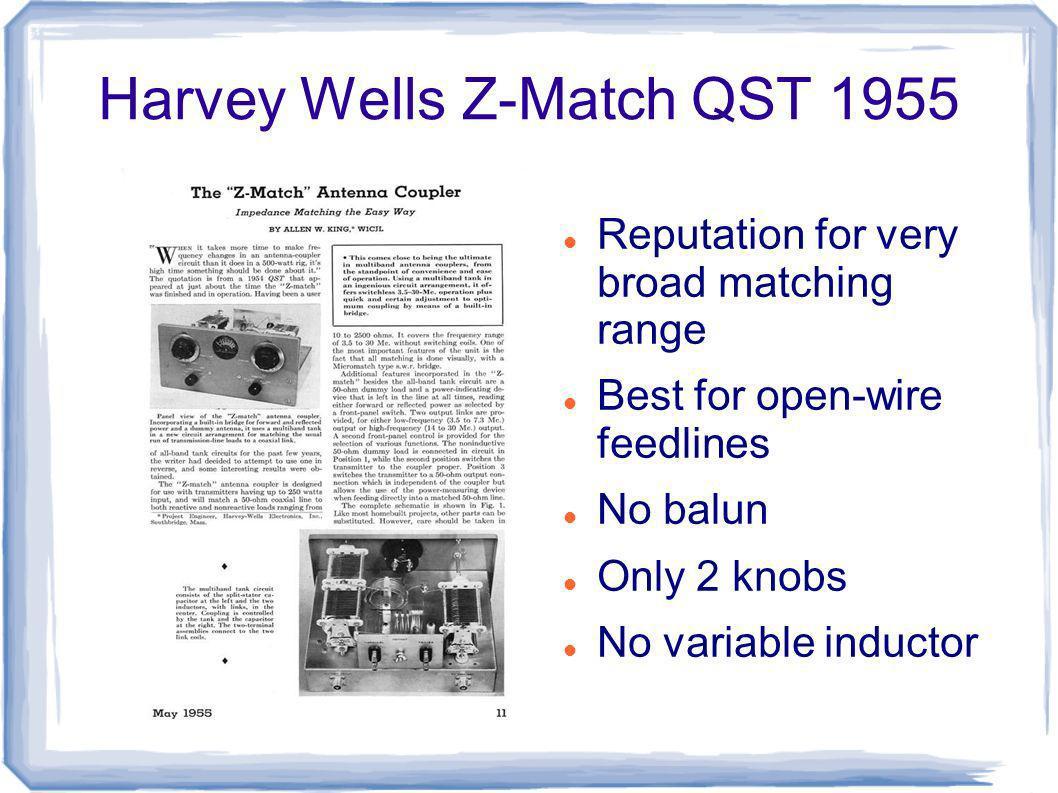 Harvey Wells Z-Match QST 1955
