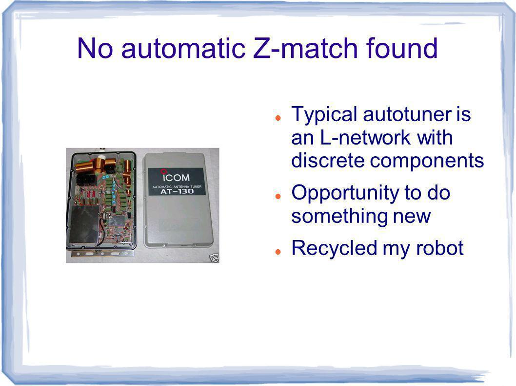 No automatic Z-match found