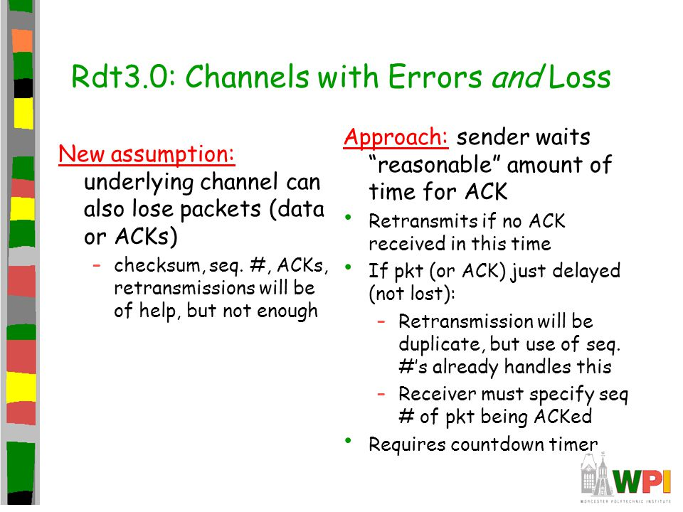 Rdt3.0: Channels with Errors and Loss