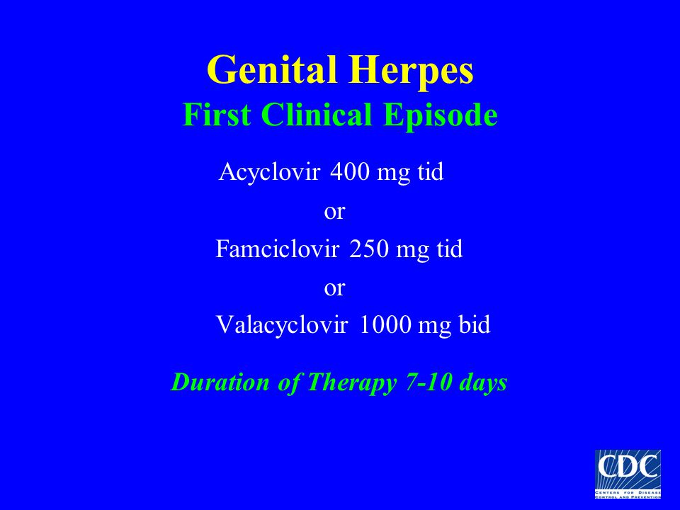 Genital Herpes First Clinical Episode