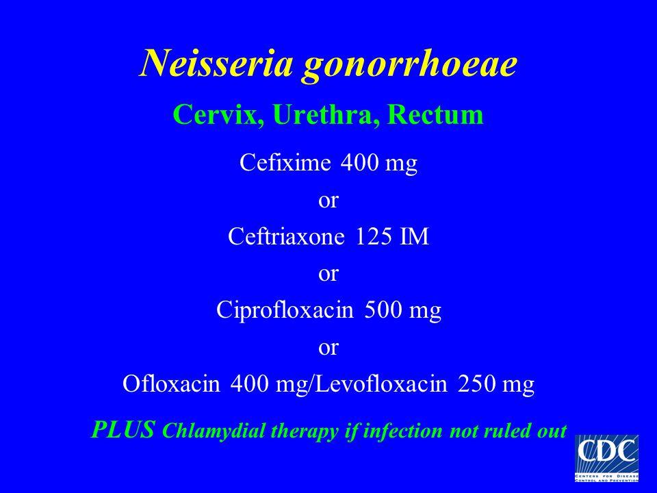 Neisseria gonorrhoeae Cervix, Urethra, Rectum