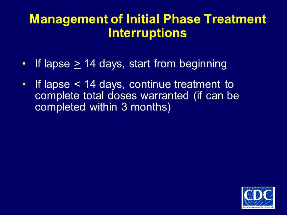 Management of Initial Phase Treatment Interruptions
