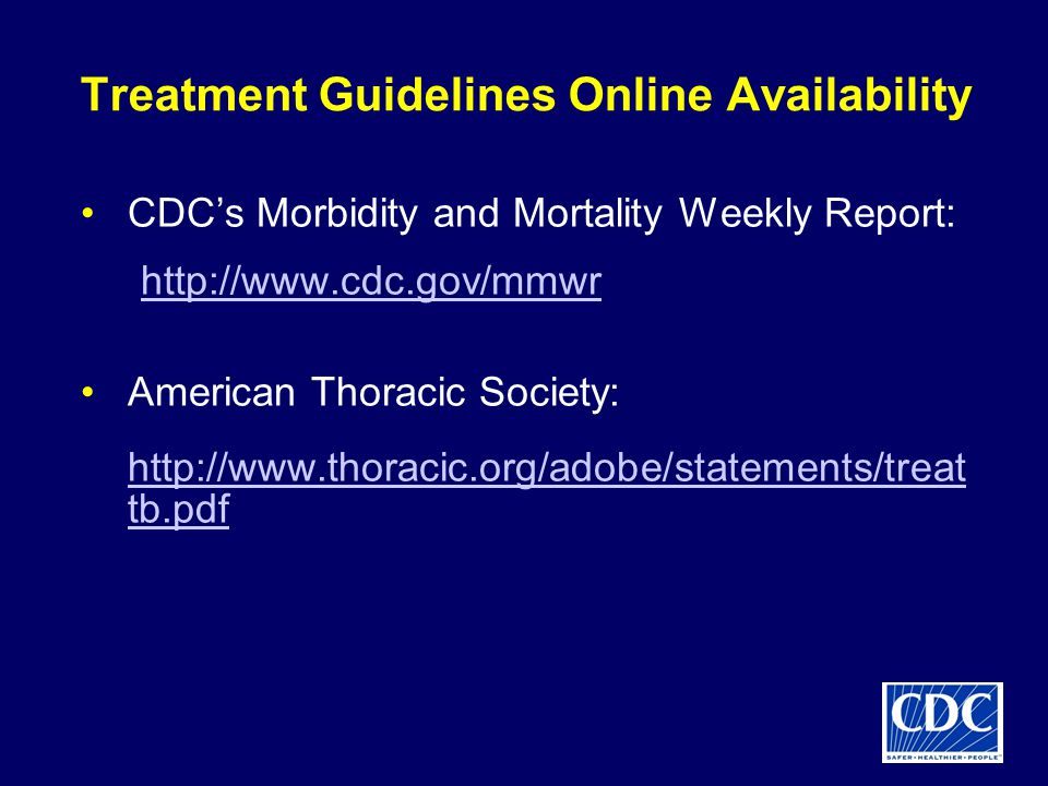 Treatment Guidelines Online Availability
