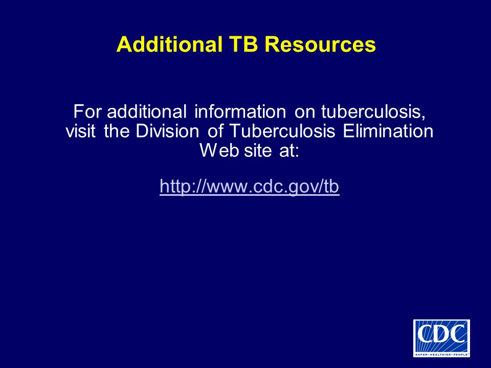 Additional TB Resources