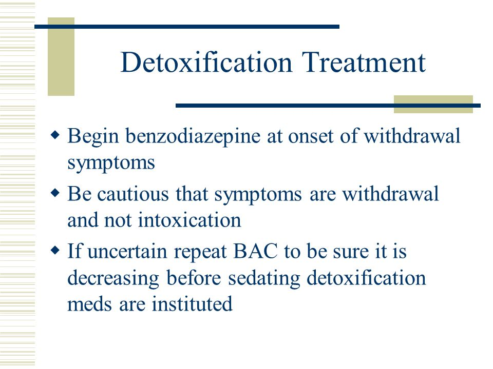 Detoxification Treatment