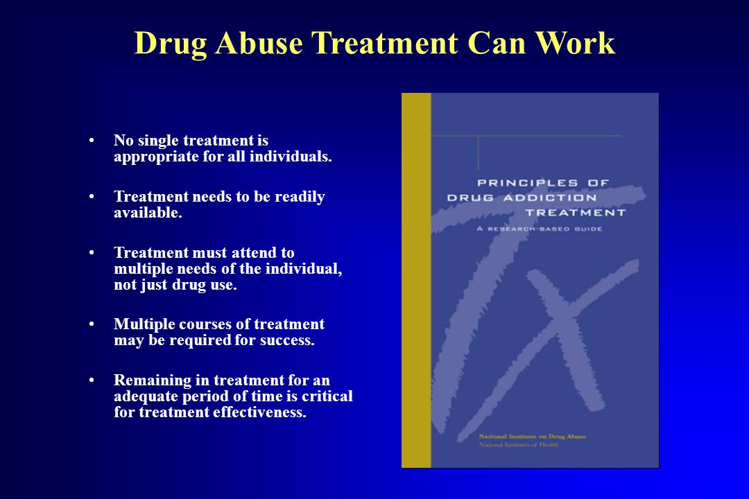 Drug Abuse Treatment Can Work