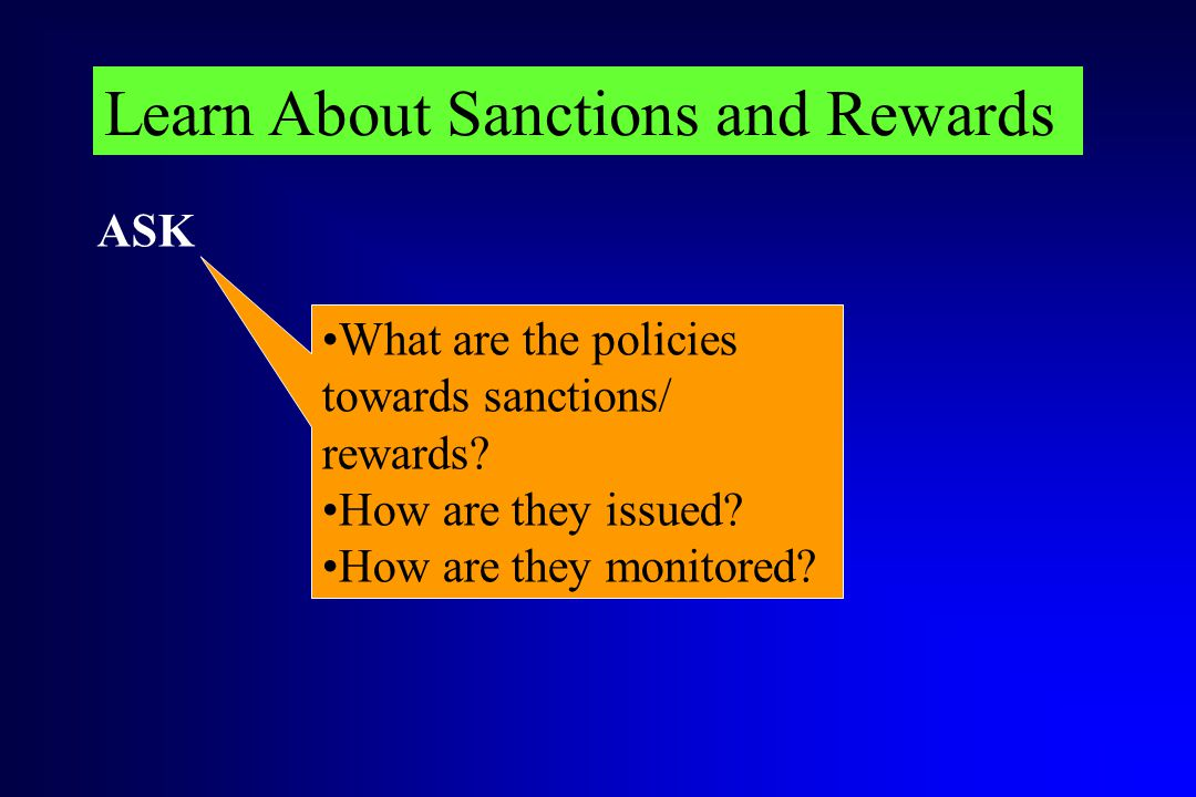 Learn About Sanctions and Rewards