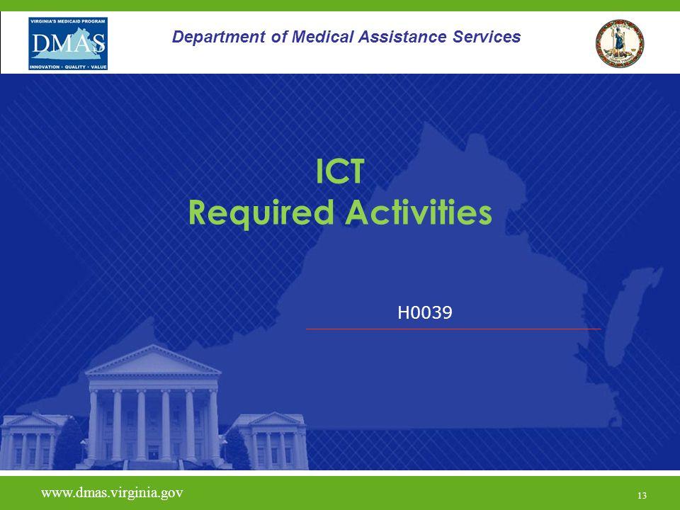 ICT Required Activities