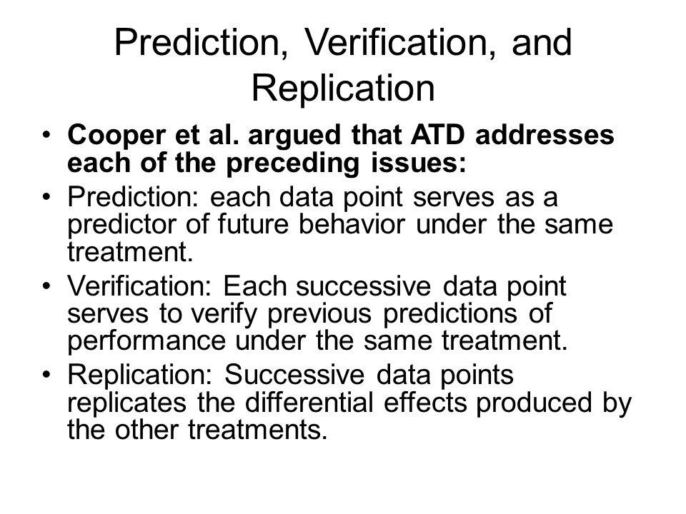 Prediction, Verification, and Replication