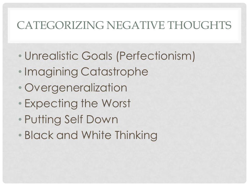 CATEGORIZING NEGATIVE THOUGHTS