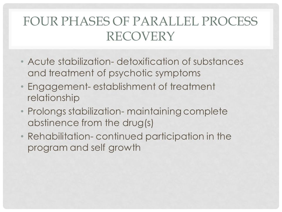 FOUR PHASES OF PARALLEL PROCESS RECOVERY