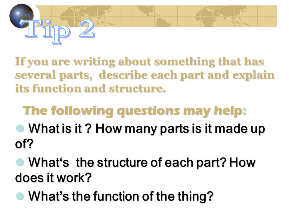 Tip 2 What is it How many parts is it made up of