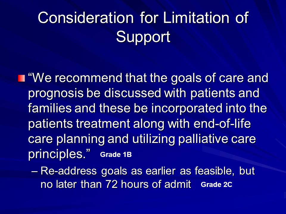 Consideration for Limitation of Support