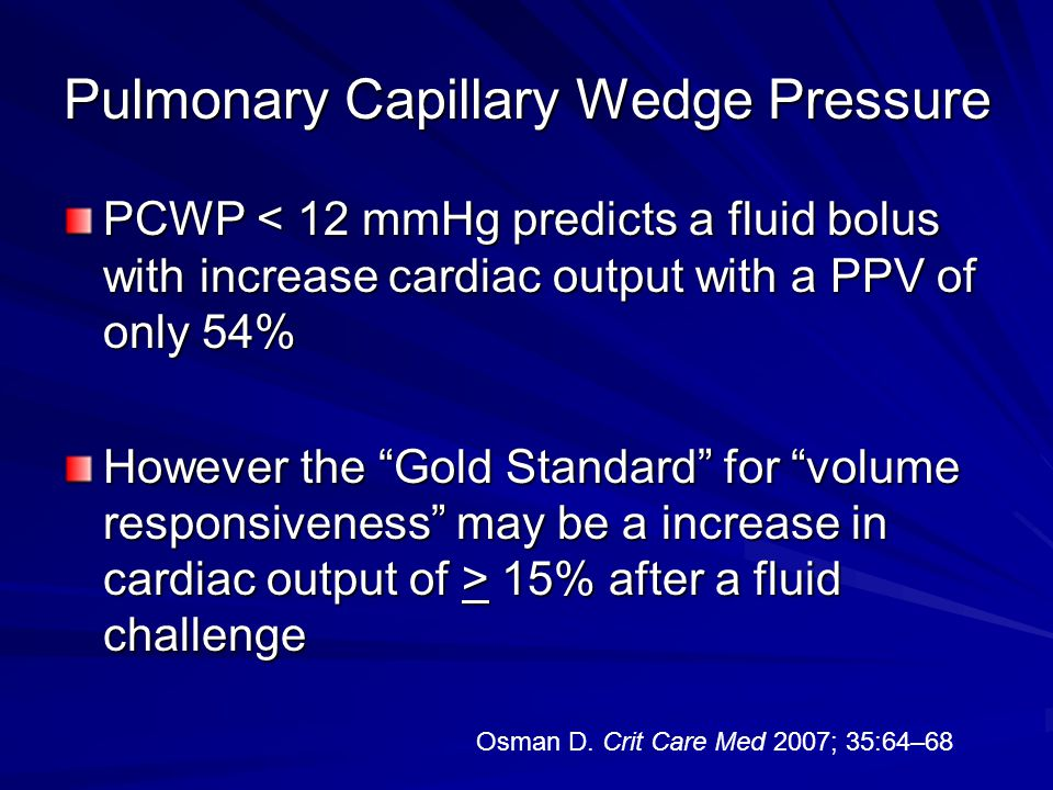 Pulmonary Capillary Wedge Pressure