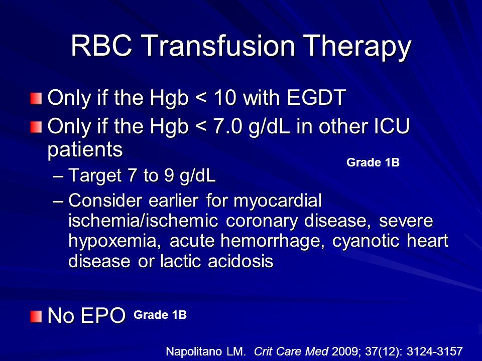 RBC Transfusion Therapy