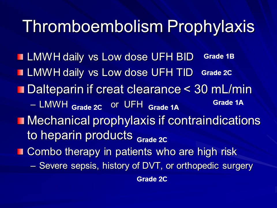 Thromboembolism Prophylaxis