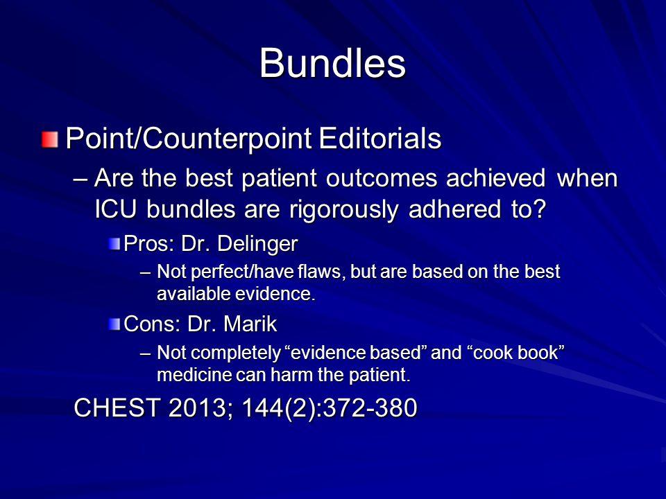 Bundles Point/Counterpoint Editorials