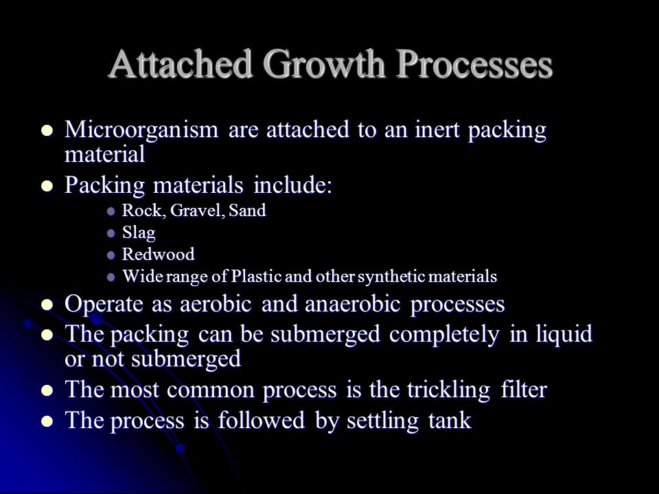 Attached Growth Processes