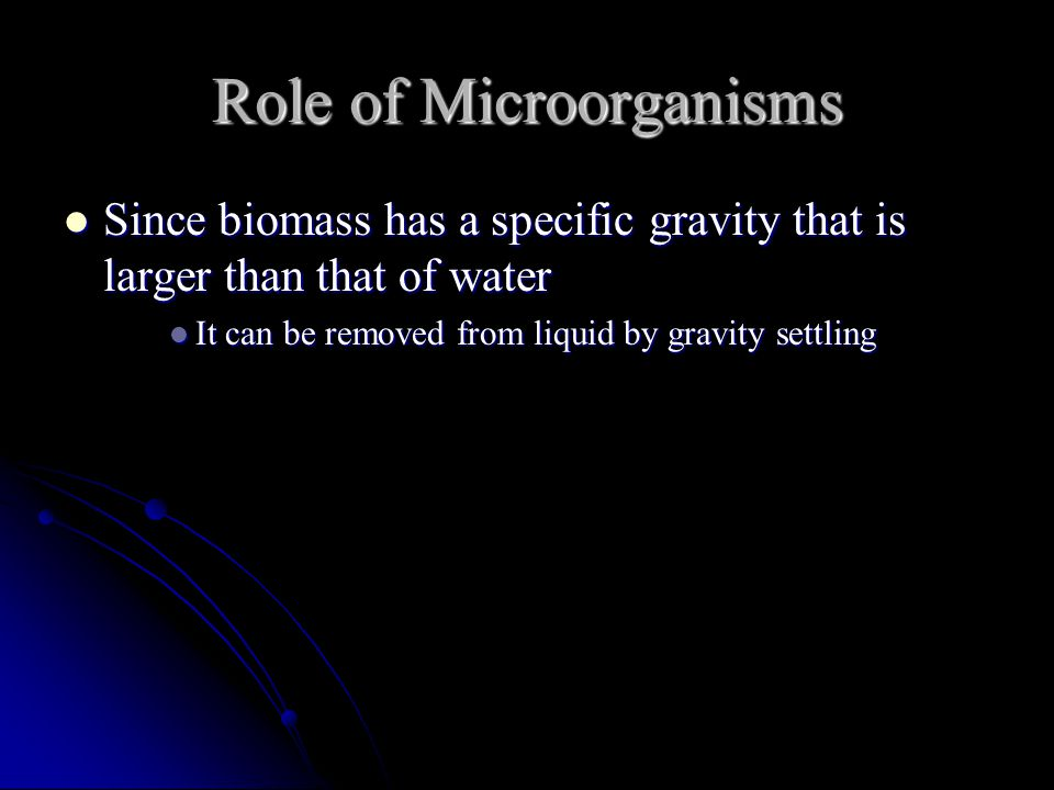 Role of Microorganisms
