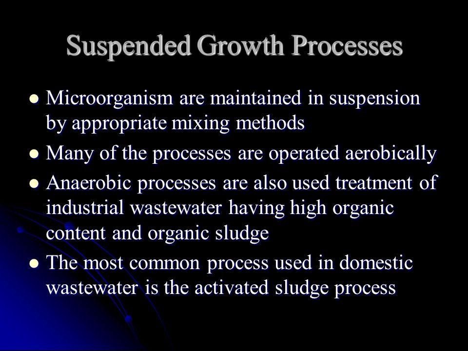 Suspended Growth Processes
