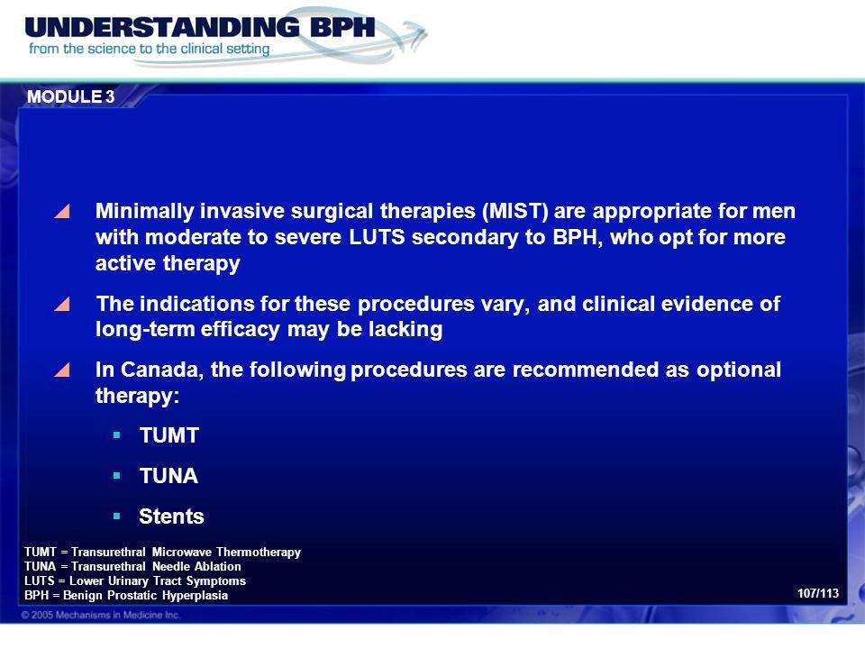 Module 3: Treatment of BPH