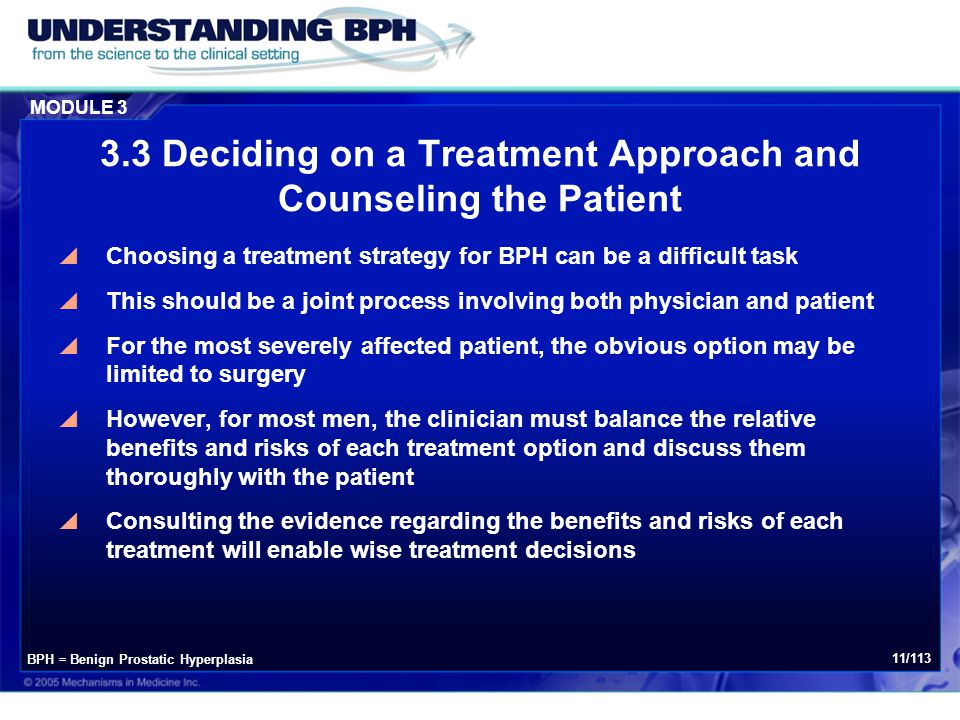 3.3 Deciding on a Treatment Approach and Counseling the Patient