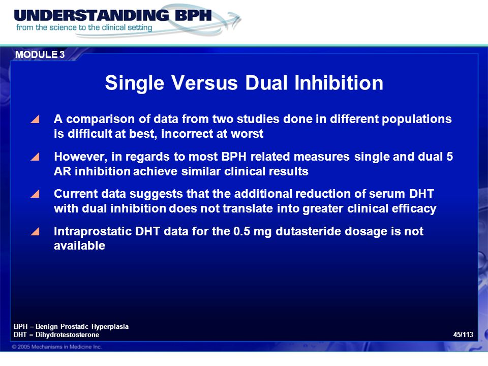 Single Versus Dual Inhibition