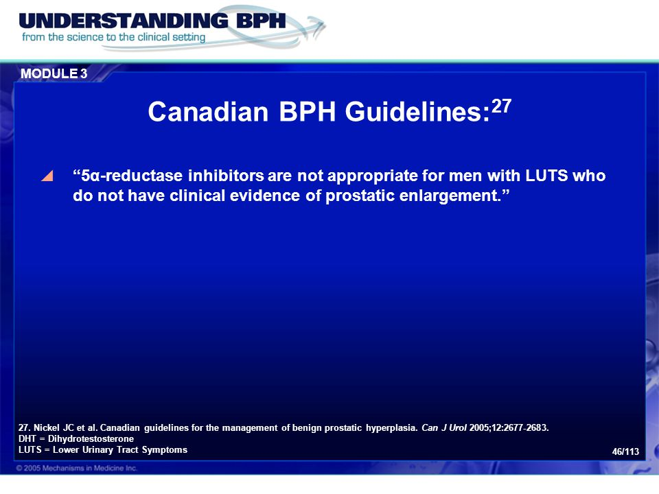 Canadian BPH Guidelines:27
