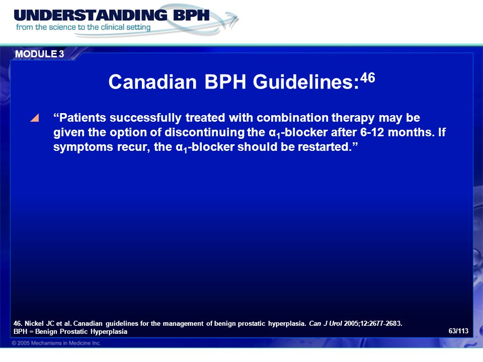 Canadian BPH Guidelines:46