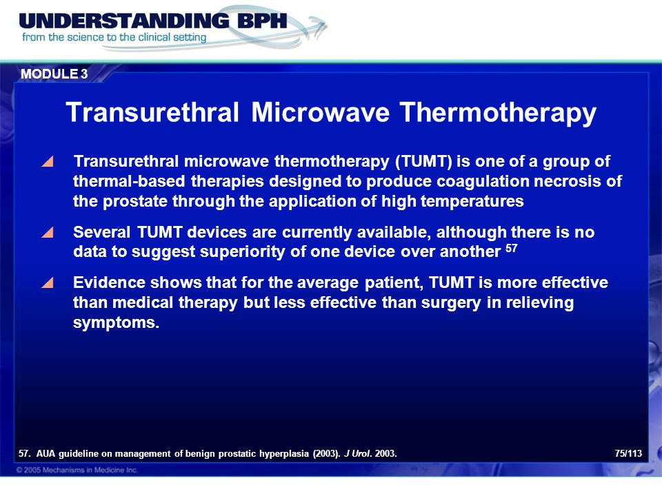 Transurethral Microwave Thermotherapy