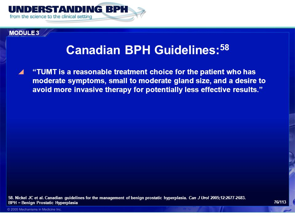 Canadian BPH Guidelines:58