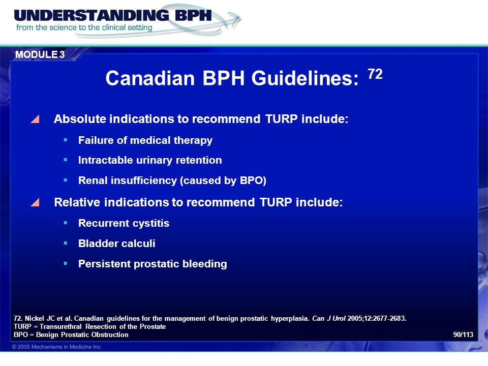 Canadian BPH Guidelines: 72