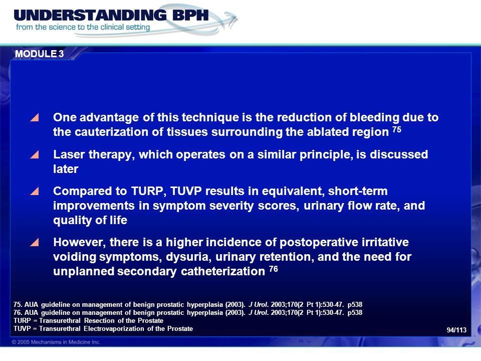 Module 3: Treatment of BPH