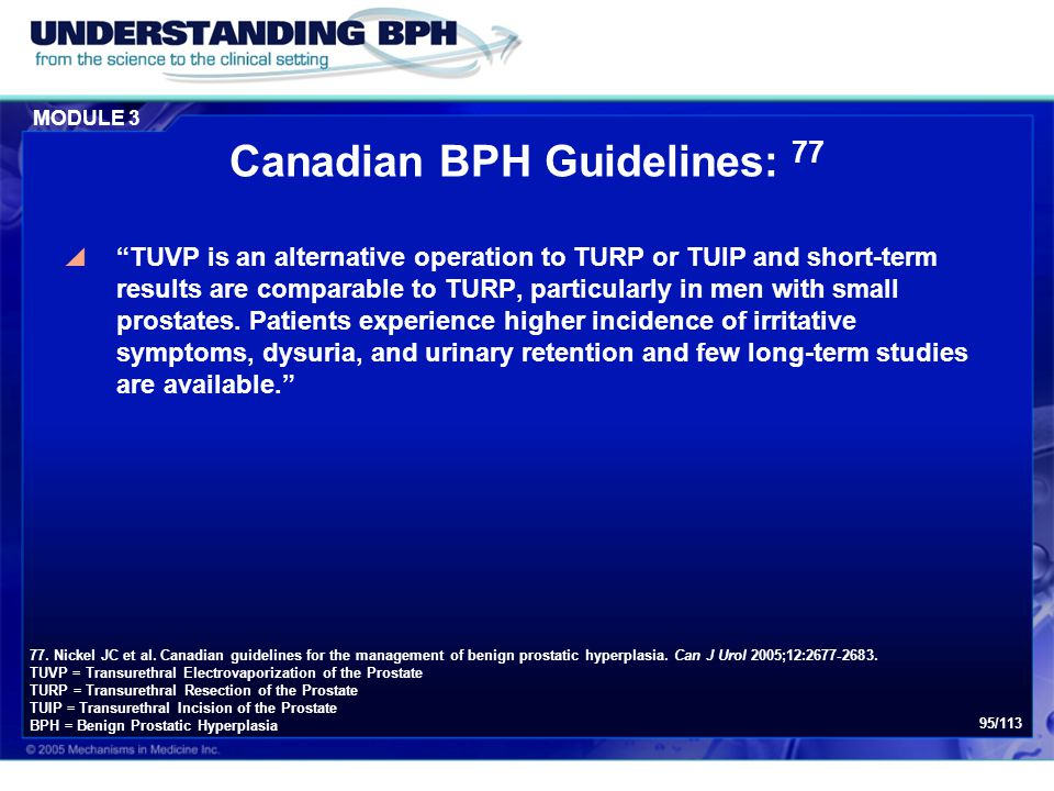 Canadian BPH Guidelines: 77