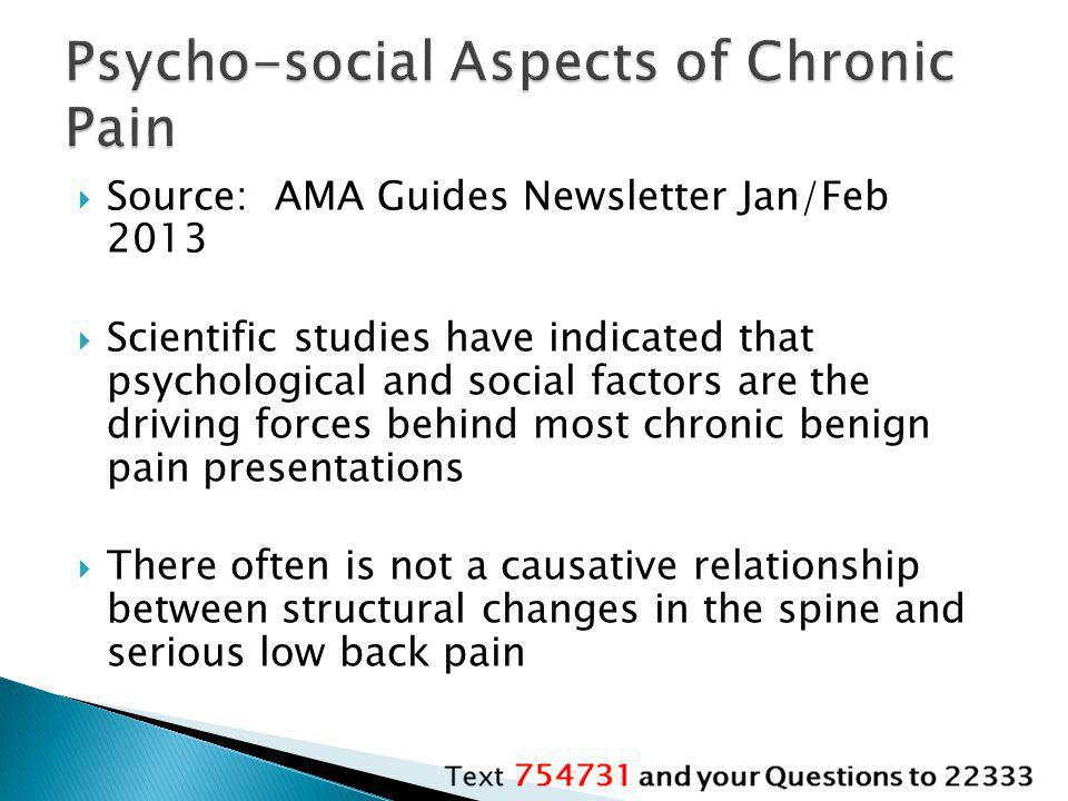 Psycho-social Aspects of Chronic Pain