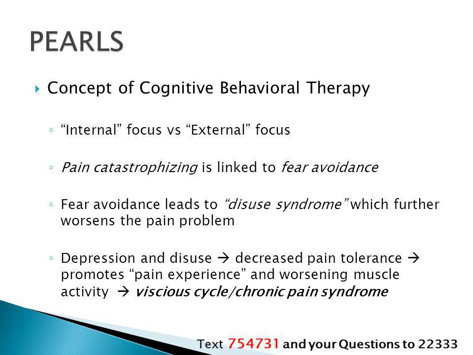 PEARLS Concept of Cognitive Behavioral Therapy