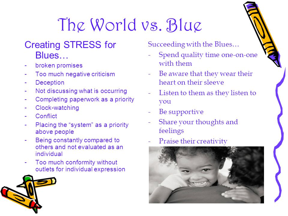 The World vs. Blue Creating STRESS for Blues…