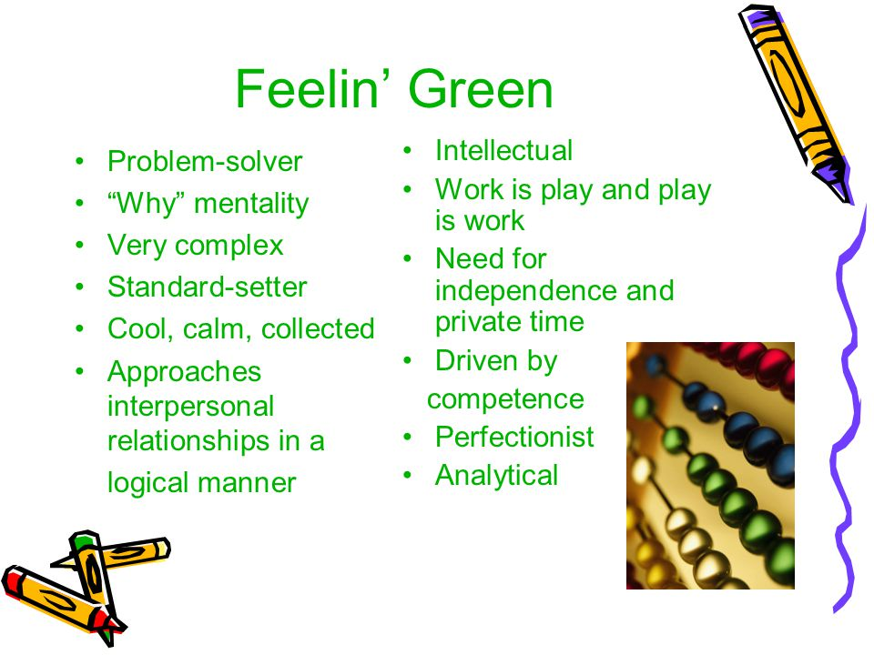 Feelin' Green Intellectual Problem-solver