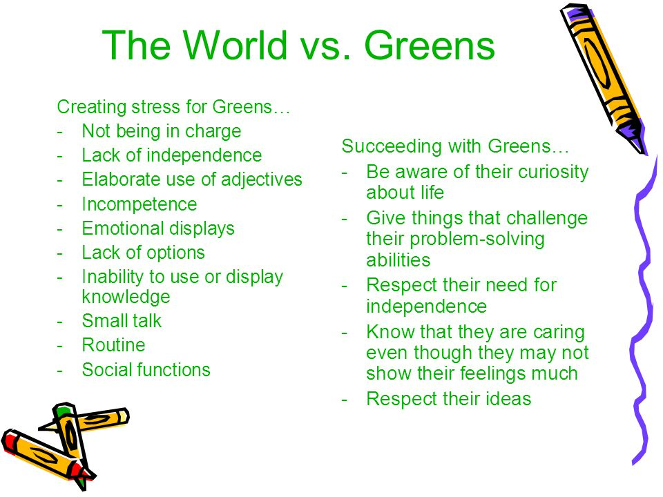 The World vs. Greens Succeeding with Greens…