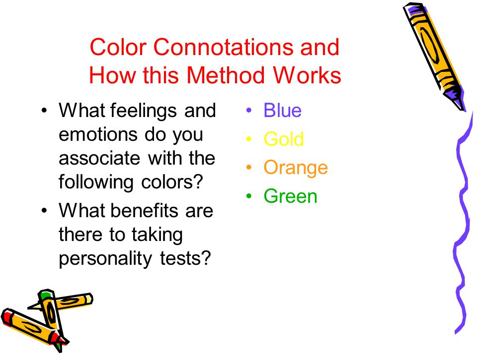 Color Connotations and How this Method Works