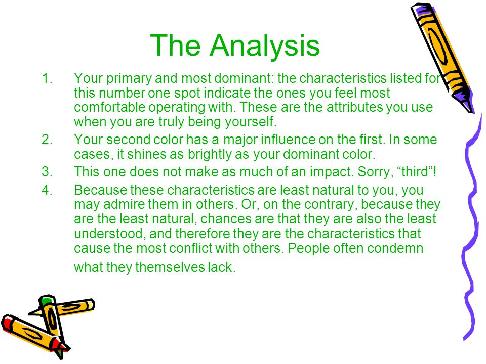 The Analysis