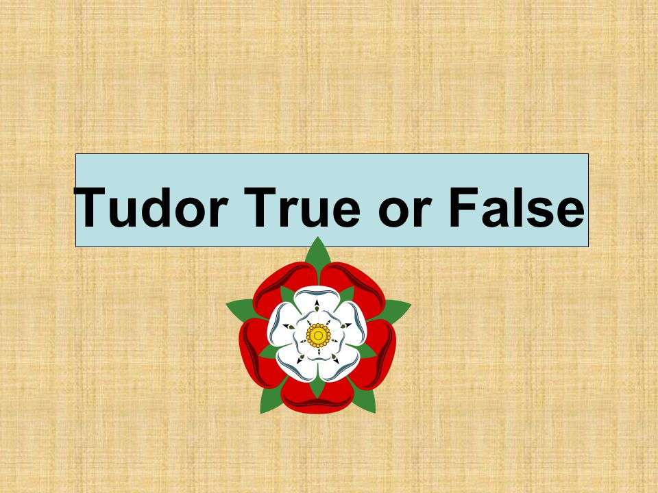 Tudor True or False