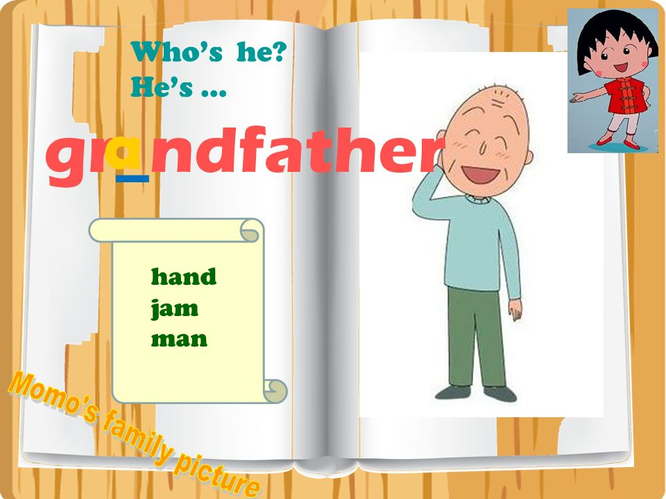 Who's he He's … a gr_ndfather hand jam man Momo s family picture