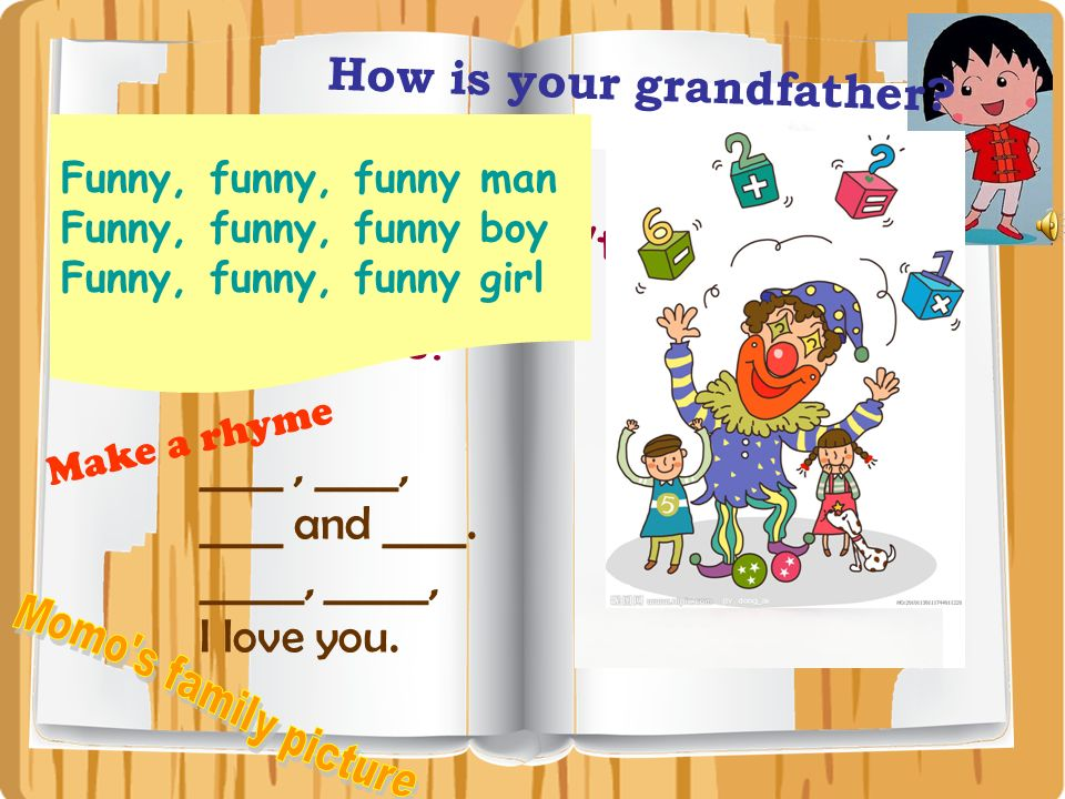 Momo s family picture How is your grandfather ____ , ____,