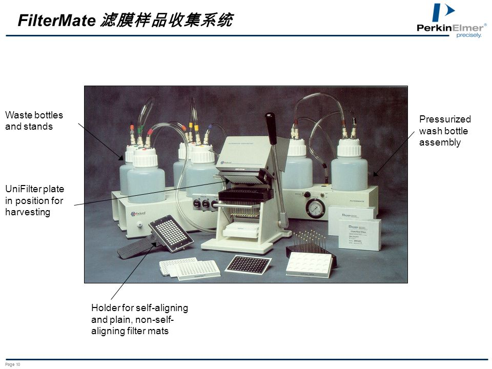 FilterMate 滤膜样品收集系统 Waste bottles and stands