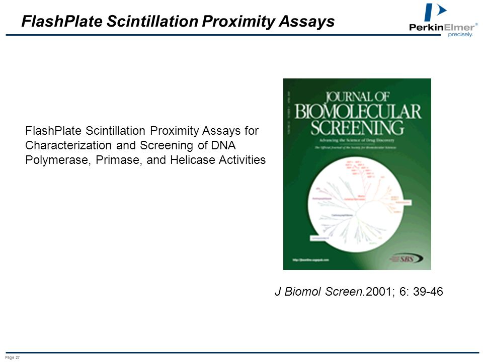 FlashPlate Scintillation Proximity Assays