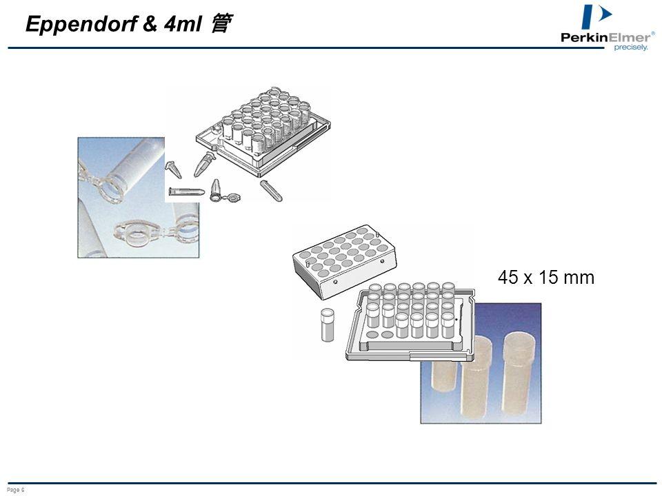 Eppendorf & 4ml 管 45 x 15 mm Page 6