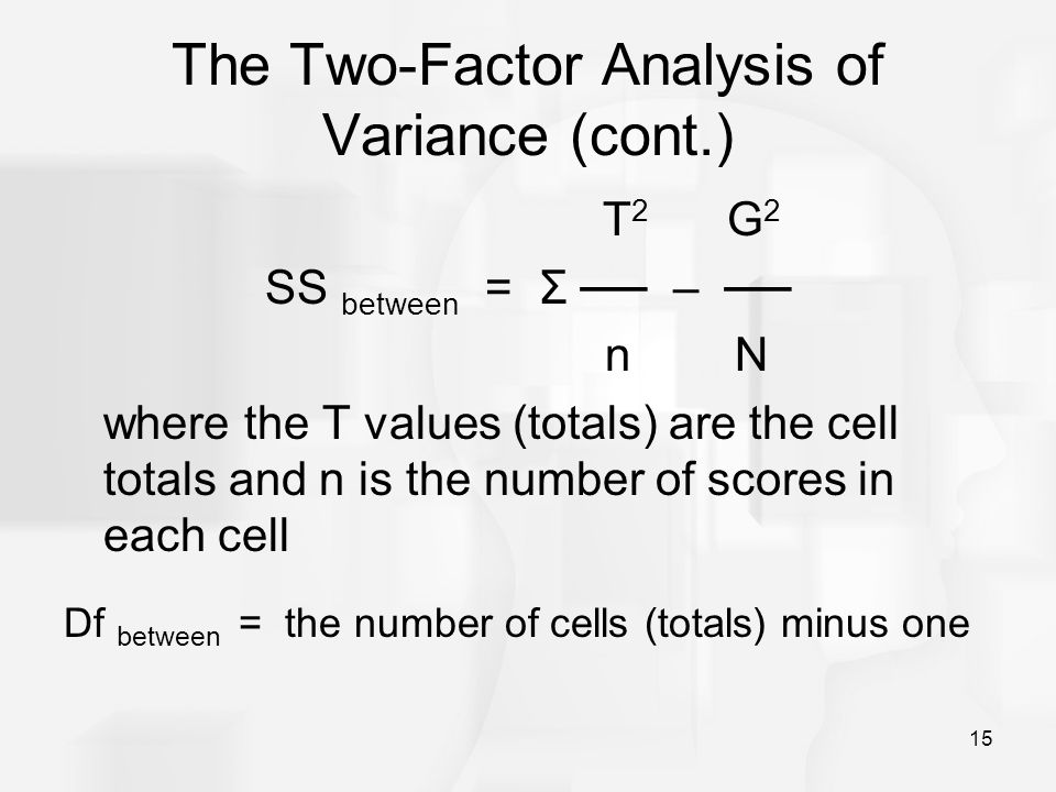 The Two-Factor Analysis of Variance (cont.)